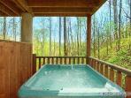 Covered Hot Tub at Making Memories Lodge