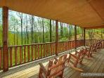 Lower Deck with Rocking Chairs at Making Memories Lodge