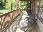 First Floor Deck Seating at Mountain Music