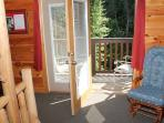 Third Floor Bedroom with Deck Access at Mountain Music