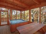 Screened Deck with Hot Tub at Tucked Away