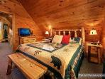Second Floor Bedroom with King Bed and Ensuite with Jacuzzi Tub at Tucked Away