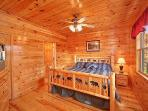 Main Level Bedroom at Hickernut Lodge