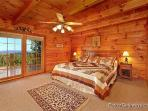 Main Floor Bedrom at Eagles View Lodge