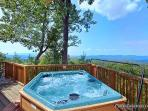 Hot Tub at Eagles View Lodge