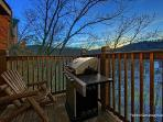 Main Level Deck with Grill at Smoky Mountain Lodge