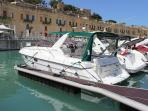 Cabin cruiser for sunset and day cruisers.