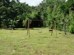 Wide view of play ground and yard