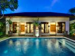 15. Lakshmi Villas - Kawi - View to the bedrooms at night