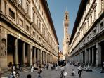 Uffizi museum, 5 minutes by walk from La Loggia