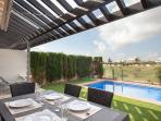 Enjoy your meal in the privacy of your back patio