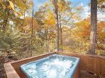 Hot Tub at Licklog Hollow