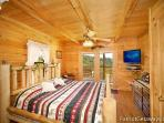 Main Level Bedroom with King Size Bed at Shy Bear