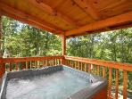 Main Level Deck with Hot Tub at Smoky Bears Creek