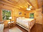 Main Level King Bedroom with Smoky Bears Creek