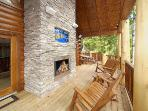 Outdoor Fireplace at Incredible!