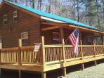 Moonshiner Cabin on three secluded acres near Bryson City, Cherokee and Fontana Lake