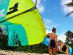 Kite-Surfing fun join or we will teach you..don't be shy about it.