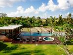 Villa Umah Daun - View of pool from upstairs
