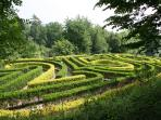 Local outing - the maze at Painswick Rococo Garden