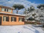 villa oriental with snow