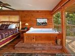 King Bedroom with Jacuzzi Tub at Ridge View