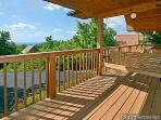 Deck with Porch Swing at Ridge View