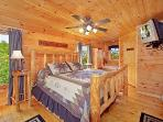 Main Floor Bedroom at Bearly Makin' It