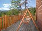 Main Level Deck with Porch Swing at Smoky Mountain Mist