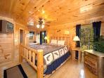 King Bedroom with Ensuite Bath at Smoky Mountain Mist