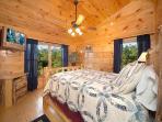 King Bedroom on Third Floor at Smoky Mountain Mist