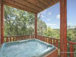 Lower Level Deck with Hot Tub at Tranquility