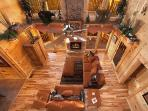 Living Room at Lookout Lodge