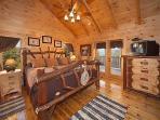 Third Floor Bedroom at Lookout Lodge