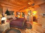 Main Level Bedroom at Lookout Lodge