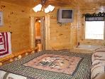 Bedroom at Hero's Hideaway