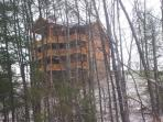 Winter View of Lookout Lodge