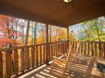 Lower Level Deck with Rocking Chairs at Perfection!