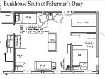 This shows Bunkhouse North and South and Cojoining Door, Updated Feb 21, 2012