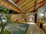 Villa Sungai Tinggi - Master bathroom at night