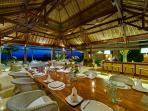 Villa Sungai Tinggi - Dining room at night