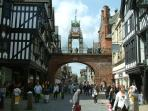 Chester city centre only a foot step away