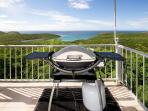 BBQ Grill on Lower deck overlooking Salt Pond