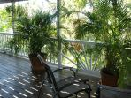 Covered deck off lower level Guest Suite