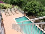 Third bedroom suite is located off lower Pool Deck