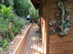 Front entrance walkway with BBQ