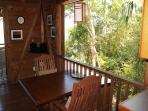 Dining Area overlooks lush landscaping