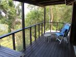 Covered balcony to enjoy the view