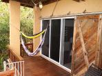 Hammocks on covered deck outside Guest Suite