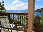 Enjoy sunset and ocean views from the covered deck